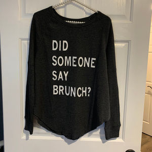 NEW Grayson Threads Brunch Graphic Thermal Top